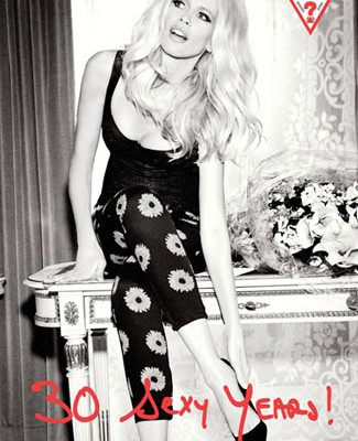 Claudia Schiffer Guess 30th Birthday - Daisy jeans
