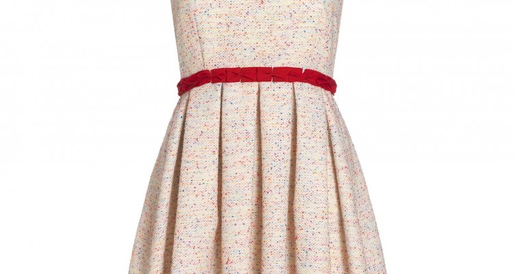 Boutique at Jaeger at BrandAlley, multi textured boucle prom dress £70 (RRP £230)
