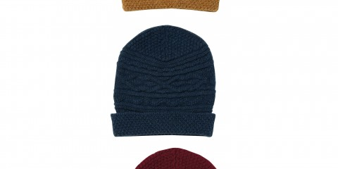 SHN00_Cable Hat_OCHRE,DIESEL,RUST
