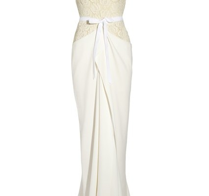 Hexam draped lace and crepe gown, £4,100