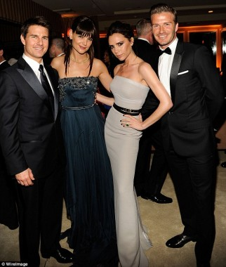 Beckhams and Katie and Tom
