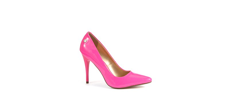 New Look - Blink Neon Pink Pointed Court Shoes