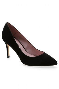 Next Suede Mid Heel Pointed Courts Shoes