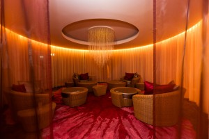 The relaxation area at the Heathrow Terminal 5 Hilton Imagine Spa